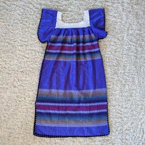 Dresses - VTG Mexican Themed Purple Maxi Dress SZ XL